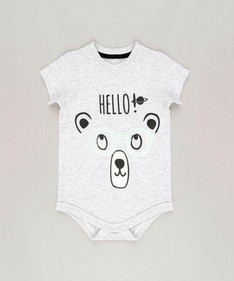 Body-Infantil-Urso-com-Oculos-Interativo-Manga-Curta-em-Algodao---Sustentavel-Cinza-Mescla-Claro-8880257-Cinza_Mescla_Claro_1