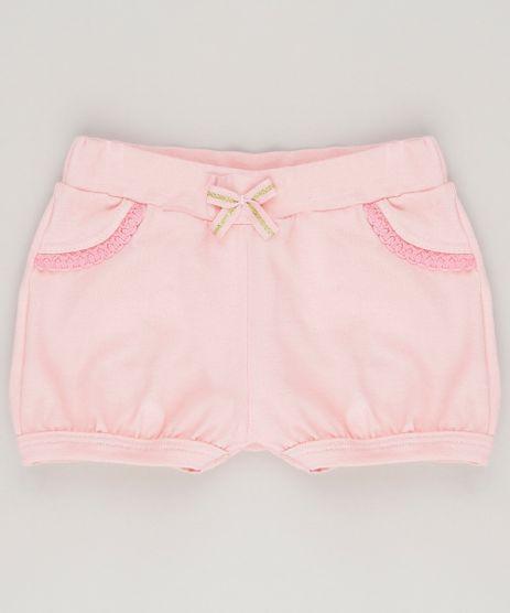 Short-Infantil-Basico-em-Algodao---Sustentavel-Rosa-9058489-Rosa_1