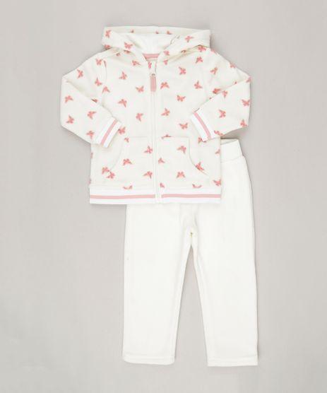Conjunto-Infantil--de-Blusao-Manga-Longa-Estampado-de-Borboletas---Calca-em-Fleece-Off-White-8838784-Off_White_1