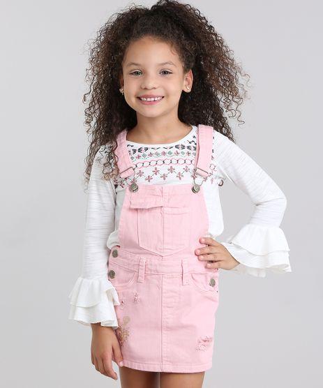 Jardineira-Infantil-Short-Saia-com-Estampa-Floral-Rosa-Claro-8829345-Rosa_Claro_1