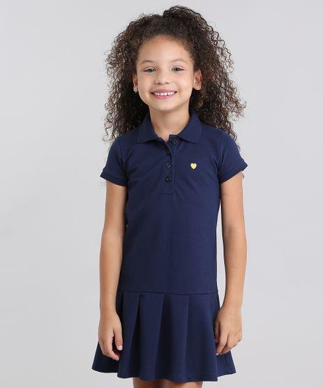 Vestido-Polo-Infantil--com-Bordado-Manga-Curta-em-Piquet-com-Pregas-Azul-Marinho-9014167-Azul_Marinho_1