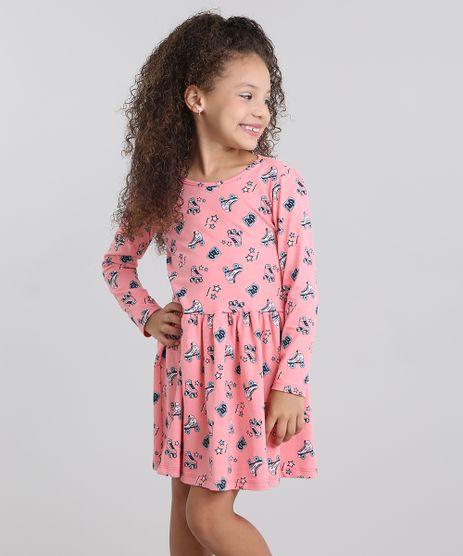 Vestido-Infantil-Estampado-Gola-Redonda-Manga-Longa-em-Algodao---sustentavel-Rosa-Medio-9048465-Rosa_Medio_1