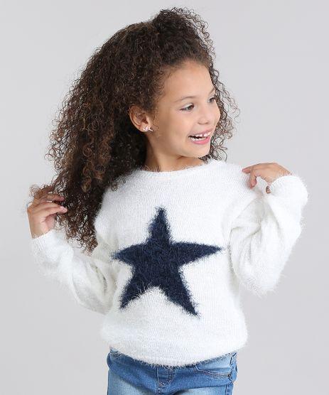Sueter-Infantil-em-Trico-Estampado-de-Estrelas-Gola-Redonda-e-Manga-Longa-Off-White-8862430-Off_White_1