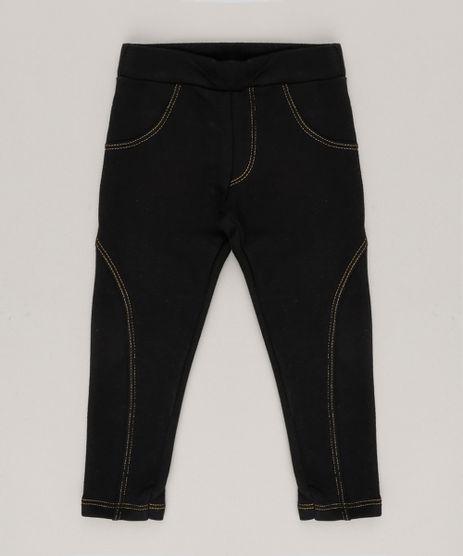 Calca-Legging-Infantil-com-Recorte-em-Algodao---Sustentavel-Preta-9057772-Preto_1