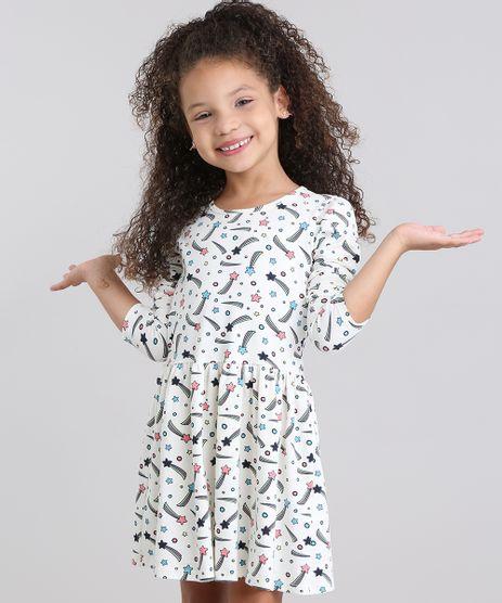 Vestido-Infantil-Estampado-Gola-Redonda-Manga-Longa-em-Algodao---sustentavel-Off-white-9048455-Off_White_1