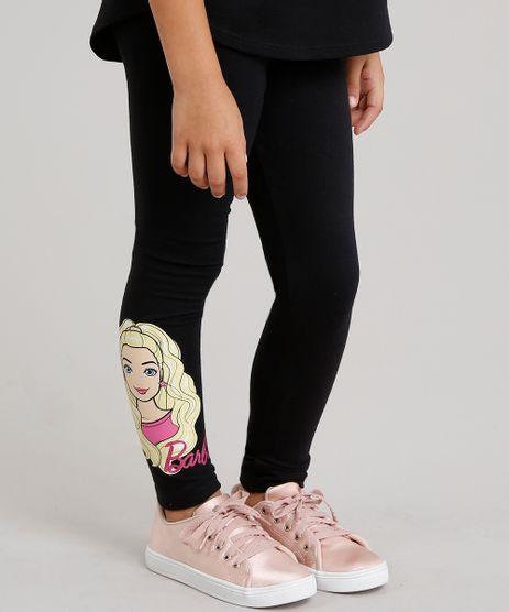 Calca-Legging-Barbie-em-Algodao---Sustentavel-Preta-8605191-Preto_1
