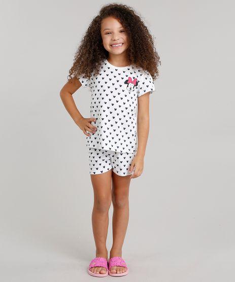 Pijama-Estampado-Minnie-em-algodao---sustentavel-Branco-9045346-Branco_1