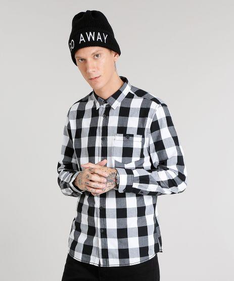 Camisa-Masculina-Xadrez-Manga-Longa-Branca-8448783-Branco_1
