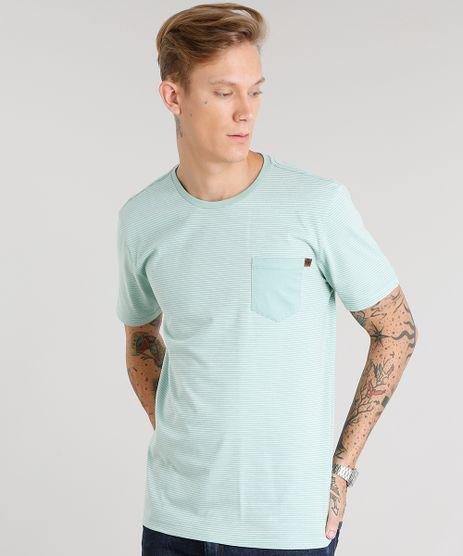 Camiseta-Masculina-Listrada-Manga-Curta-Gola-Careca-Verde-Claro-8960849-Verde_Claro_1