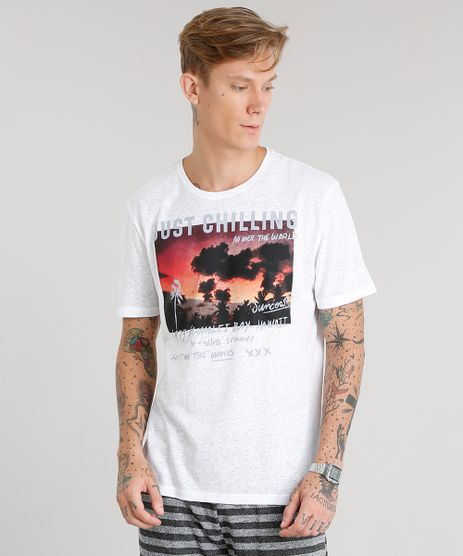 Camiseta-Masculina-Mescla--Just-Chilling--Manga-Curta-Gola-Careca-Branca-8965493-Branco_1