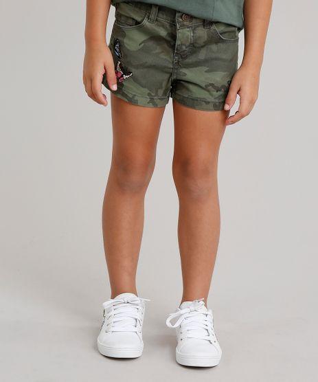 Short-Infantil-Estampado-Camuflado-com-Bordado-de-Borboletas-Verde-Militar-9035503-Verde_Militar_1