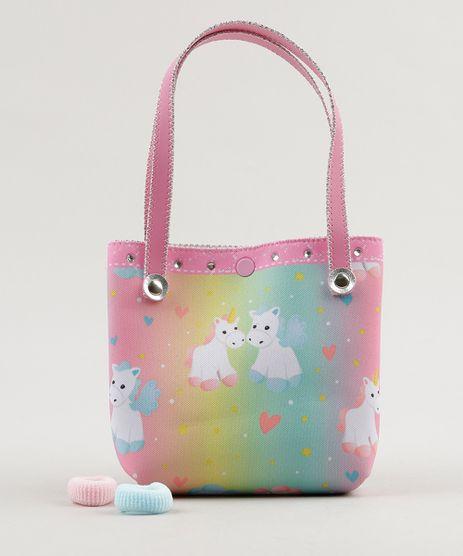 Bolsa-Estampada-de-Unicornio---Elasticos-de-Cabelo-Rosa-9116879-Rosa_1