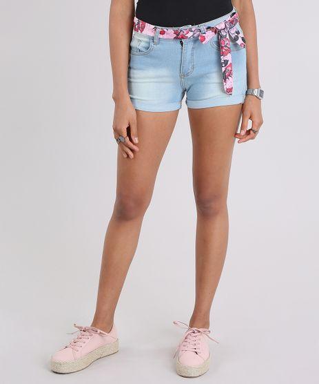 Short-Jeans-Reto-com-Faixa-Estampada-Floral-Azul-Claro-9060177-Azul_Claro_1