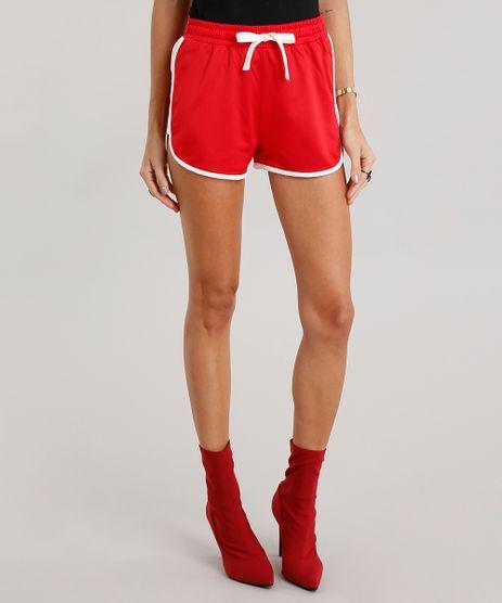 Short-Feminino-Running-Esportivo-com-Recorte-Contrastante-Vermelho-8918849-Vermelho_1