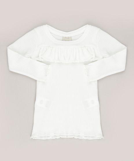 Blusa-Infantil-Canelada-com-Babado-Decote-Redondo-Manga-Longa-Off-White-9041687-Off_White_1