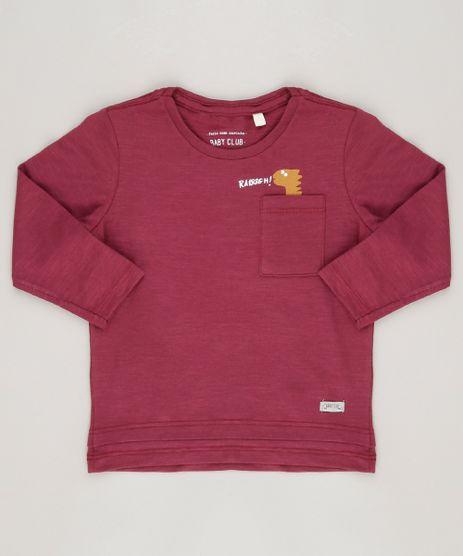 Camiseta-Infantil-Dinossauro-com-Bolso-Manga-Longa-Gola-Redonda-Vinho-9093406-Vinho_1