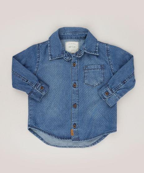 Camisa-Jeans-Infantil-Estampada-de-Poa-Manga-Longa-Azul-Escuro-9101292-Azul_Escuro_1