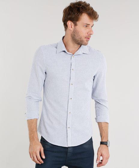 Camisa-Masculina-Slim-Listrada-Manga-Longa-Azul-8851762-Azul_1