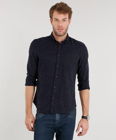 Camisa-Masculina-Comfort-em-Flanela-Botone-Manga-Longa-Azul-Marinho-8841829-Azul_Marinho_1