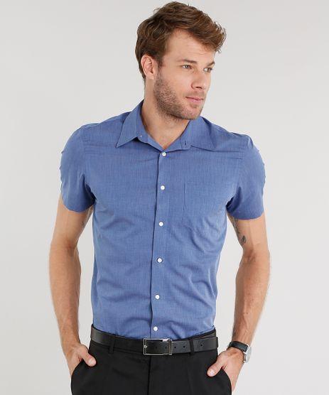 Camisa-Masculina-Comfort-Manga-Curta-Azul-8838279-Azul_1