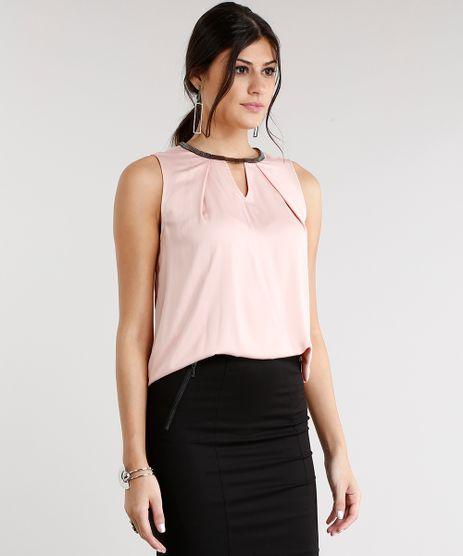 Regata-Feminina-Acetinada-com-Corrente-Gola-Redonda-Rose-8900646-Rose_1