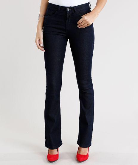 Calca-Jeans-Feminina-Boot-Cut-Cintura-Alta-Azul-Escuro-9031171-Azul_Escuro_1