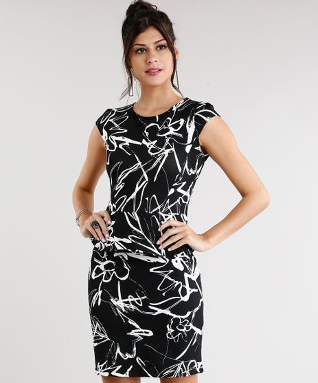 Vestido-Feminino-Estampado-Curto-com-Babado-Preto-8954686-Preto_1