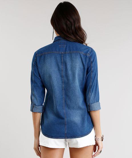 Camisa-Jeans-Feminina-Manga-Longa-Azul-Escuro-9072661-Azul_Escuro_2