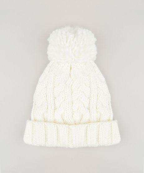 Gorro-Feminino-em-Trico-com-Pompom-Off-White-8754445-Off_White_1