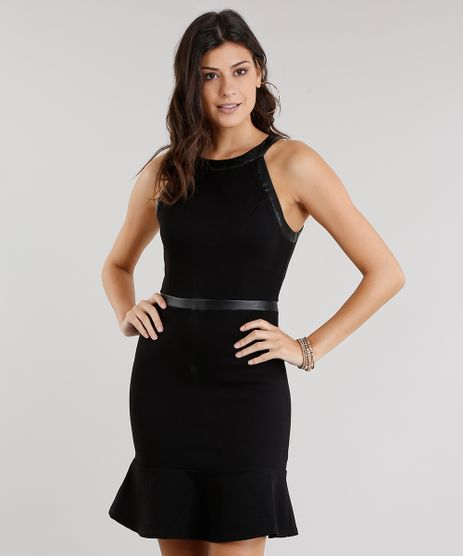 Vestido-Feminino-Halter-Neck-Curto-com-Babado-Preto-8880645-Preto_1
