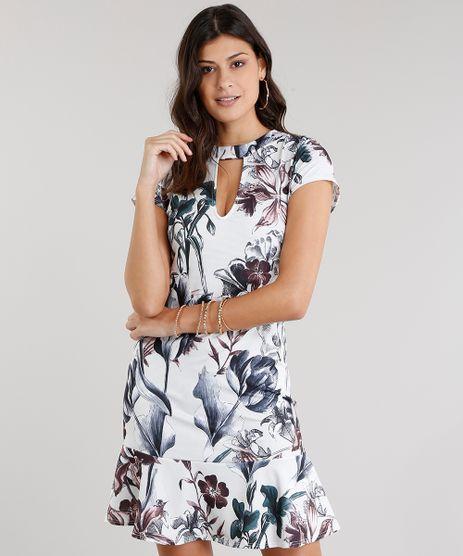 Vestido-Feminino-Choker-Estampado-Floral-Curto-Manga-Curta-Off-White-8954685-Off_White_1