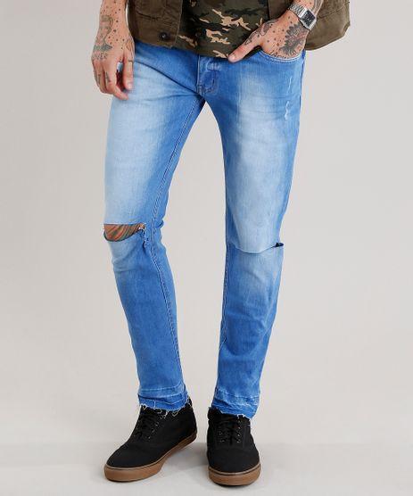 Calca-Jeans-Masculina-Skinny-Destroyed-Azul-Medio-9029568-Azul_Medio_1