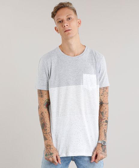 Camiseta-Masculina-com-Recortes-Manga-Curta-Gola-Redonda-Cinza-Mescla-Claro-9079163-Cinza_Mescla_Claro_1