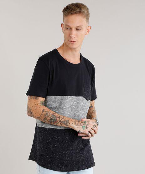 Camiseta-Masculina-com-Recortes-Manga-Curta-Gola-Redonda-Preta-9079163-Preto_1