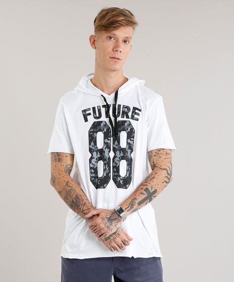 Camiseta-Masculina-Longa--88-Future--com-Capuz-e-Bolso-Manga-Curta-Branca-9123496-Branco_1