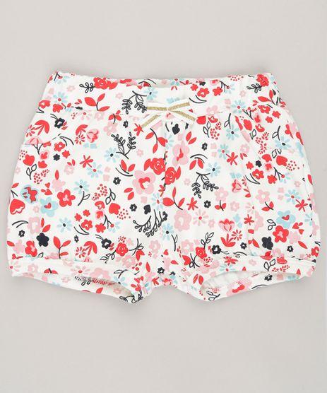 Short-Infantil-Estampado-Floral-em-Algodao---Sustentavel-Off-White-9058500-Off_White_1