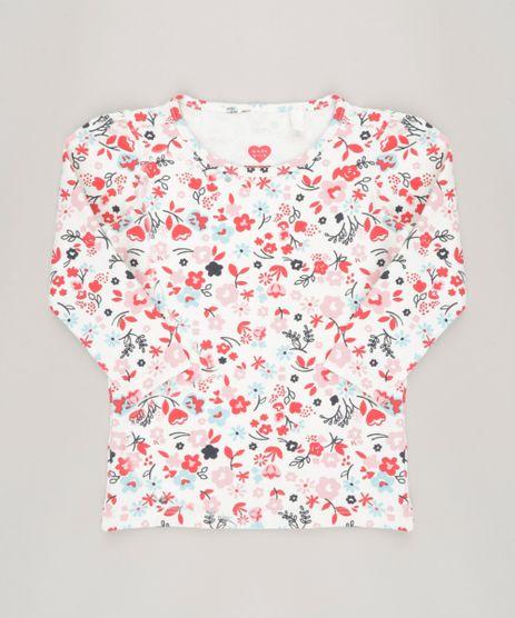 Blusa-Infantil-Estampada-Floral-Manga-Longa-Decote-Redondo-em-Algodao---Sustentavel-Off-White-9043773-Off_White_1