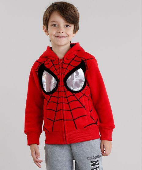 Blusao-Infantil-Homem-Aranha-em-Fleece-com-Capuz-Vermelho-8470076-Vermelho_1