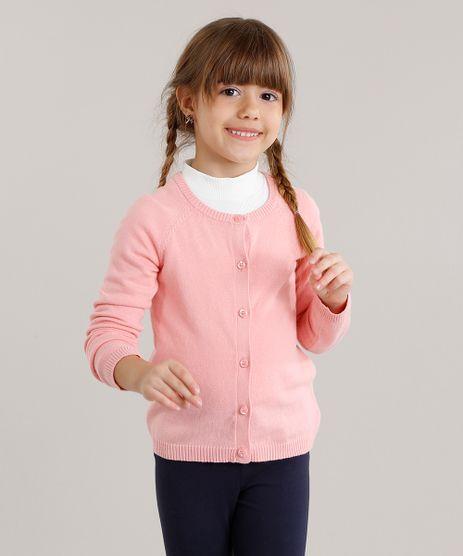 Cardigan-Infantil-Basico-em-Trico-Rosa-8871226-Rosa_1