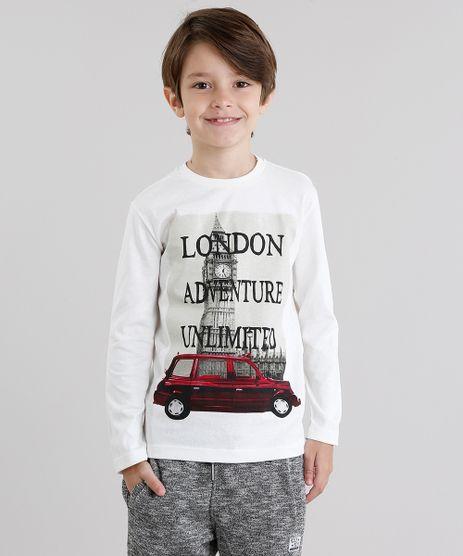 Camiseta-Infantil--London--Manga-Longa-Gola-Redonda-em-Algodao---Sustentavel-Off-White-9033233-Off_White_1