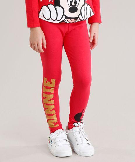 Calca-Legging-Infantil-com-Estampa-Minnie-em-Algodao---Sustentavel-Vermelha-9044107-Vermelho_1