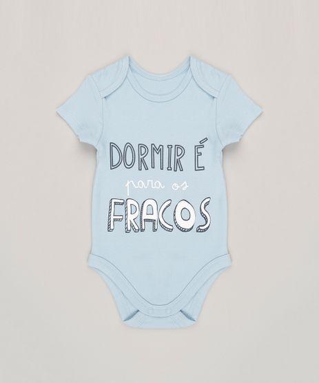 Body-Infantil--Dormir-e-Para-os-Fracos--Manga-Curta-Gola-Redonda-em-Algodao---Sustentavel-Azul-Claro-8809813-Azul_Claro_1