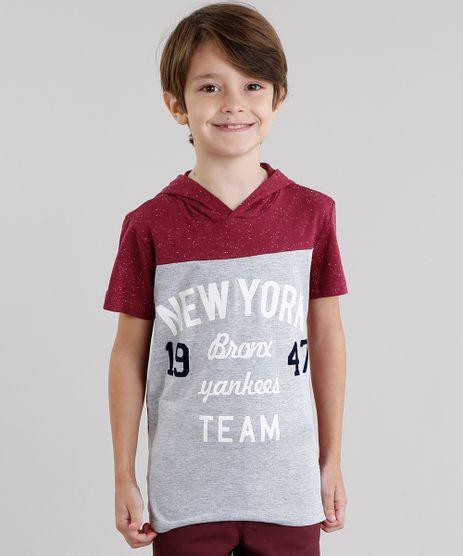 Camiseta-Infantil--New-York--com-Capuz-Manga-Curta-Vinho-9031695-Vinho_1