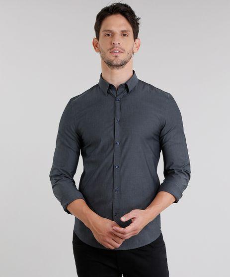 Camisa-Masculina-Slim-Manga-Longa-Chumbo-8855621-Chumbo_1