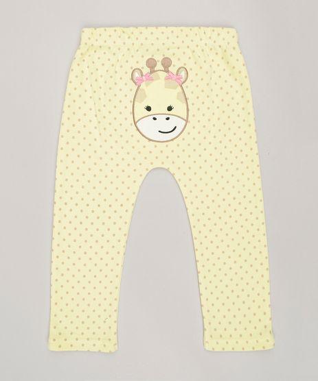 Calca-Infantil-Estampada--Girafa--em-Algodao---Sustentavel-Amarela-8812203-Amarelo_1