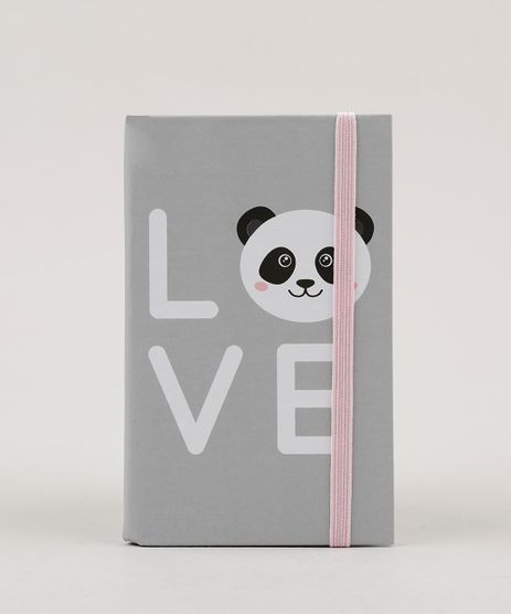 Caderno--Love--Sem-Pauta-135-x-85-cm-Cinza-Claro-9088688-Cinza_Claro_1