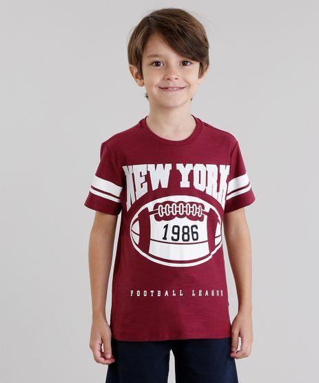 Camiseta-Infantil--New-York--Manga-Curta-Gola-Redonda-Vinho-9046311-Vinho_1