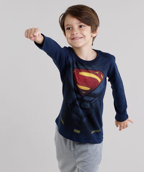 Camiseta-Infantil-Super-Homem-Manga-Longa-Gola-Redonda-Azul-Marinho-9037723-Azul_Marinho_1