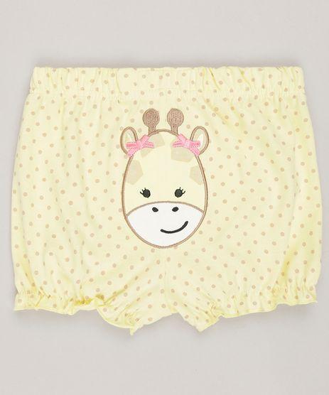 Short-Infantil-Estampado--Girafa--em-Algodao---Sustentavel-Amarelo-8812231-Amarelo_1