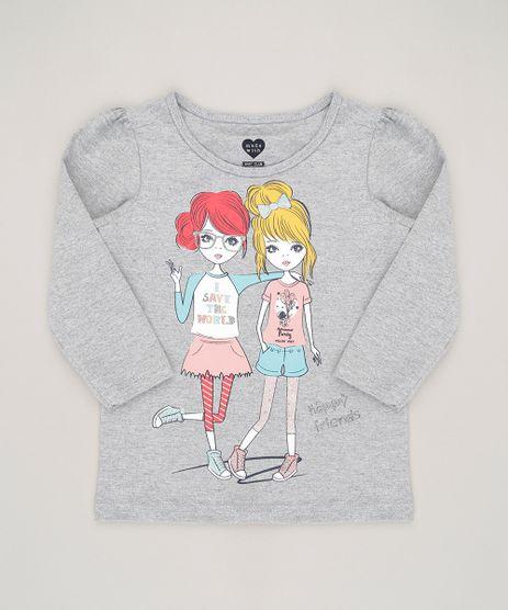 Blusa-Infantil--Happy-Friends--Decote-Redondo-Manga-Longa-Cinza-Mescla-9043768-Cinza_Mescla_1